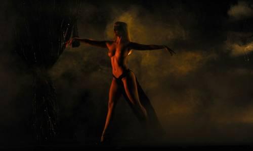 A dancer of Crazy Horse