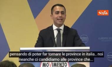 """Province, Di Maio: """"Sono uno spreco, il M5s non si candida"""". E alla Lega: """"Se le vuole si cerchi un altro alleato"""""""