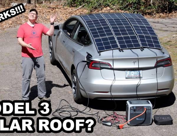 Si può caricare una Tesla con un tettuccio fotovoltaico? Ecco com'è andato l'esperimento