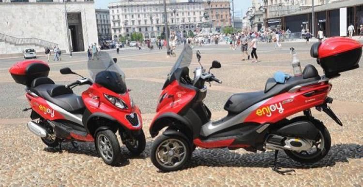 Enjoy lancia lo scooter sharing a Milano: costo 35 centesimi al minuto. Ecco come funziona