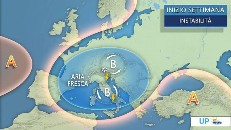 METEO: Italia tra sole e temporali, clima ancora molto fresco