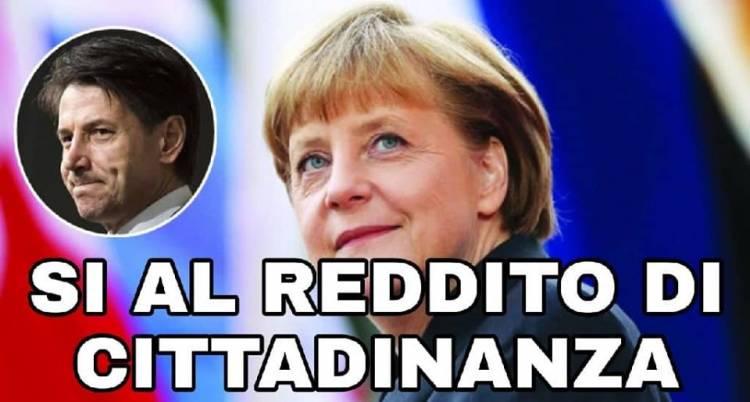 La Merkel ha detto SI ad aiutare l'Italia per il reddito di cittadinanza e Rafforzare le frontiere esterne!