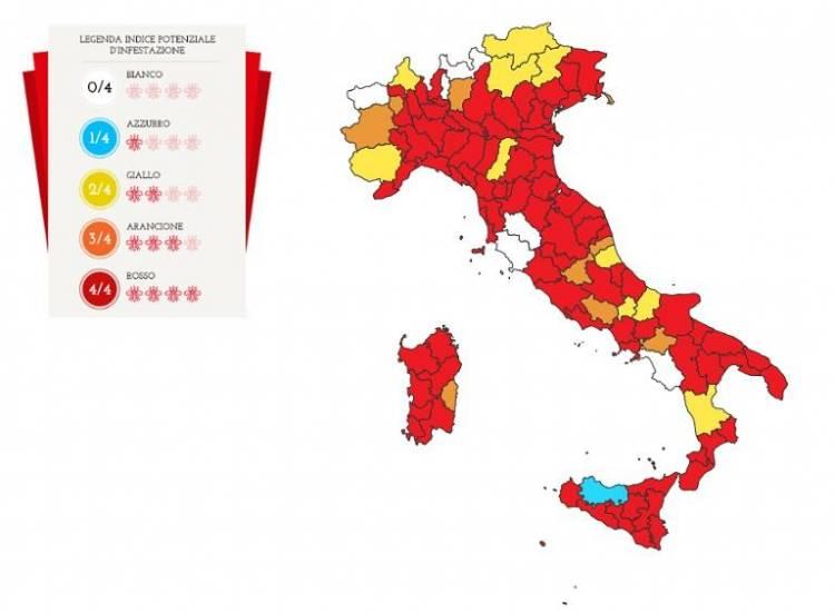 Zanzara tigre, in ben 67 province italiane infestazione ai massimi livelli